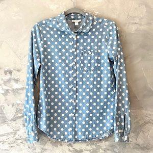 LOFT denim long sleeve shirt